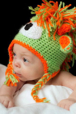 Free Crochet Pattern Monster Alien Mohawk Hat Pdf Crochet