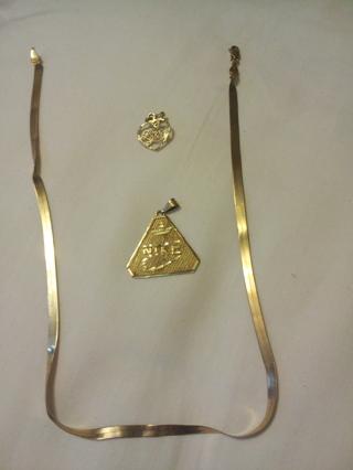 10k Gold Necklace Nike Pendant I Love You