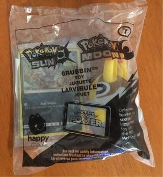 Pokémon McDonalds Grubbin Toy w/ Holo Card ~ New!