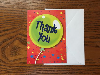 2 BLANK UNIQUE THANK YOU CARD/NOTES WITH ENVELOPES