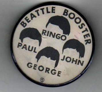 Beatles Booster Lenticular Button