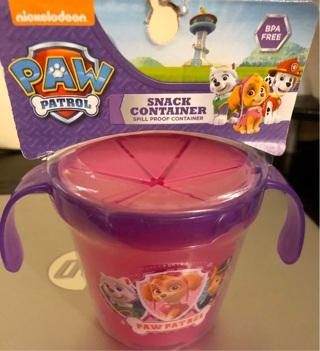 BNIP Nickelodeon's PAW PATROL: Snack Cup w/Spill - Proof Lid. BPA Free.