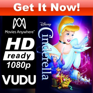 CINDERELLA  HD MOVIES ANYWHERE OR VUDU CODE ONLY