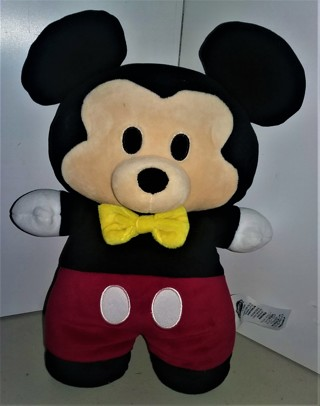 "Disney Store stuffed plush MICKEY MOUSE character doll - size 11"" x 6"" - very soft (for a child)"