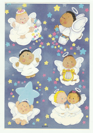 One Sheet of Angel Stickers