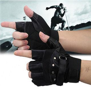 [GIN FOR FREE SHIPPING] Men Soft Driving Motorcycle Biker Fingerless Warm Gloves