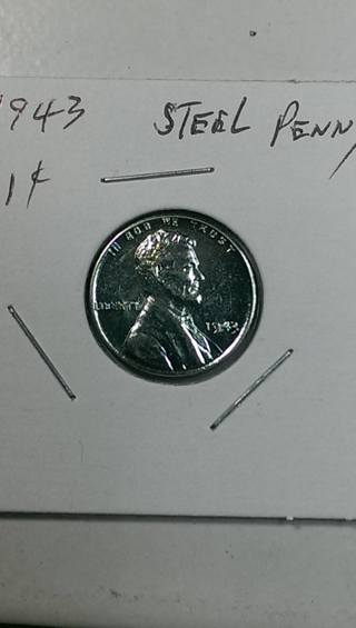 1943 Steel Lincoln Wheat Penny 4.33