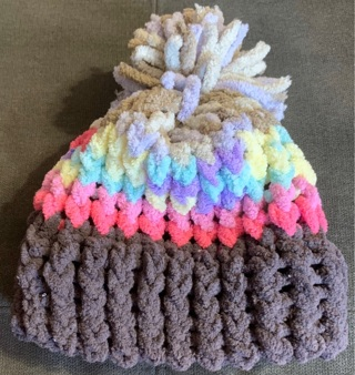 Handmade infant/small child beanie hat
