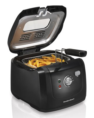 1 Electric Deep Fryer with Cool Touch, 6-Cup Oil Capacity FREE SHIPPING