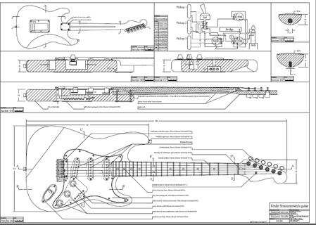 free 2 fender style guitar templates strat tele instruments