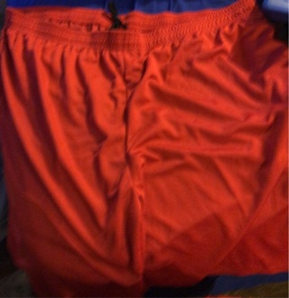 Brand New: Men's Red 3X Athletic, Side Pocketed, Short Pants. Royal Blue. Draw String Waist