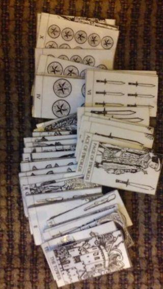 Mini Dec of tarot cards Wicca witchcraft