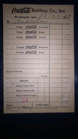 Vintage Coca-Cola Receipt