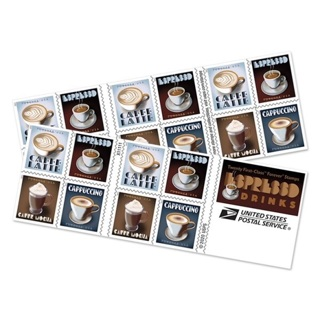 20 ESPRESSO Drinks ☕️ Forever Postage STAMPS! ⭐️ Brand NEW Unused