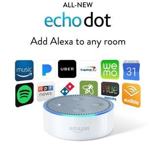 NEW Echo Dot (2nd Generation) - Smart speaker with Alexa - (White) FREE SHIPPING