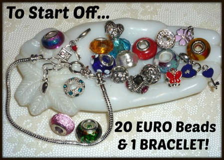 21-Day Growing EURO BEADS & Bracelet(s) Auction! Check Daily for BRAND NEW Additions!