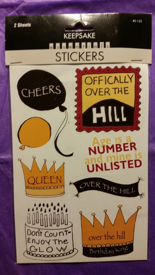 Over The Hill Party Stickers