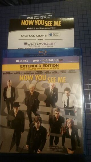 Now you see me HD Digital copy extended edition