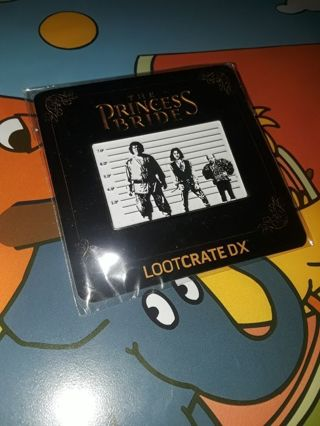 LOOT CRATE DX EXCLUSIVES...THE PRINCESS BRIDE PIN...BRAND NEW...FREE SHIPPING WITH TRACKING...