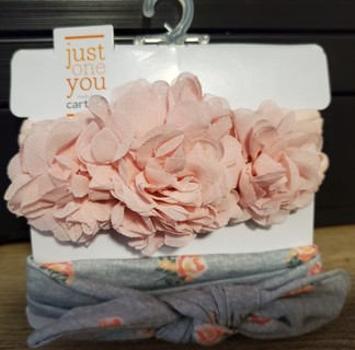 NEW - Carter's - Just For You - 2 headbands