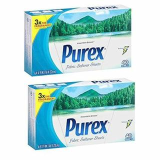 2 Packs of Purex Fabric Softener Dryer Sheets