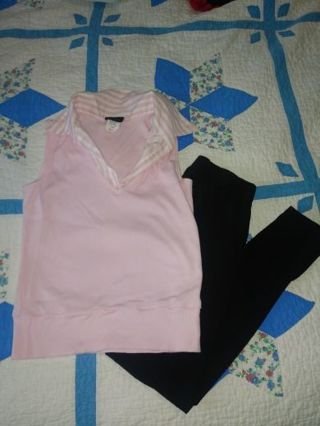 Pink top & black legging sm/xs = 14/16