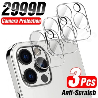 3Pcs Full Cover Camera Lens Protection Glass For iPhone