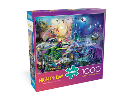 Night & Day Dragon Race Into The Night 1000 Piece Jigsaw Puzzle