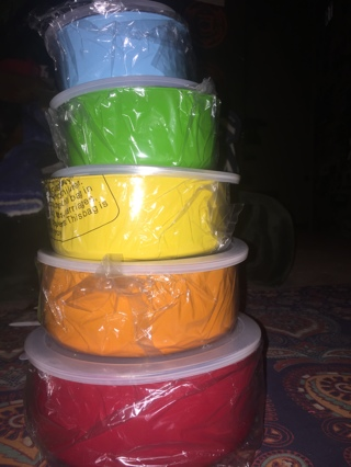 **~ Rainbow assorted colors stainless steel mixing bowl tupperware set ~**