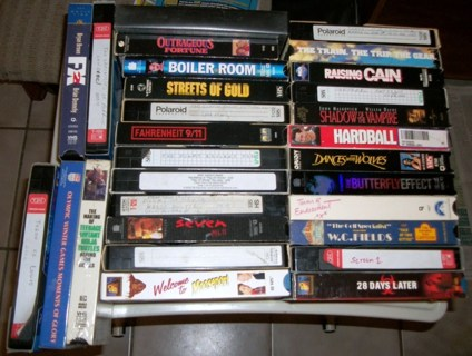 Large lot of VCR tapes