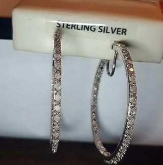 DIAMOND EARRINGS 100% REAL GENUINE DIAMONDS 1 FULL CARAT OF DIAMONDS GORGEOUS BLING!
