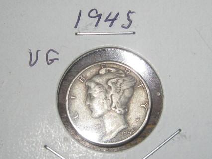 1945 Mercury Dime VG