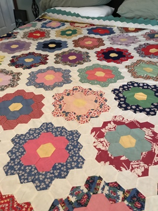 "Beautiful Estate Sale Quilt Top: Great Condition 82"" x 100"""