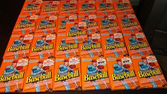 25 sealed packs orange 1990 donruss baseball cards