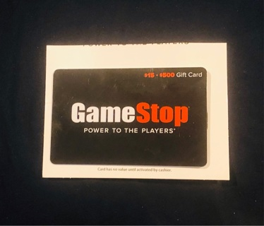 New 25$ Game Stop Gift Card!