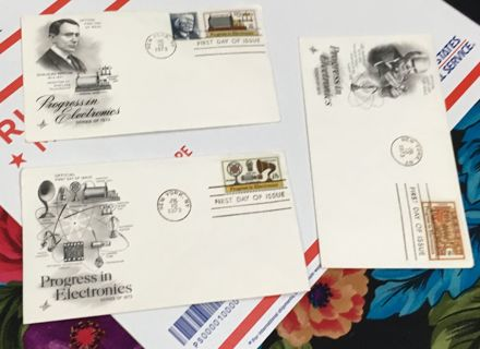 FIRST DAY OF ISSUE ENVELOPES POSTAGE STAMPED 1973 NEW YORK CEREMONY