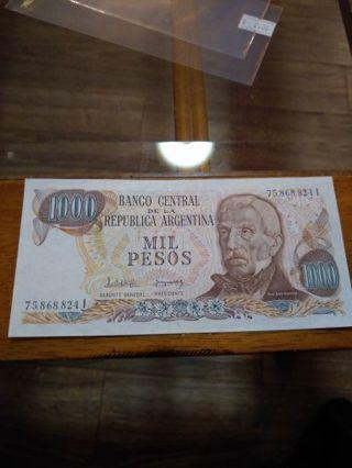 Argentina 1000 Pesos Crisp uncirculated