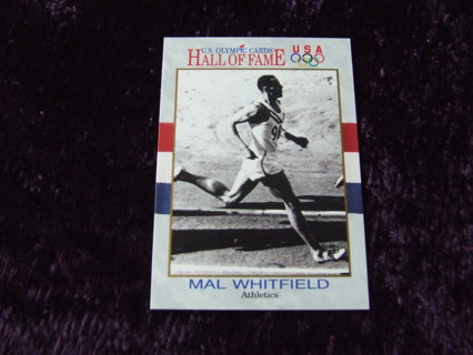 1991 Mal Whitfield Olympic Hall Of Fame Impel Card #39