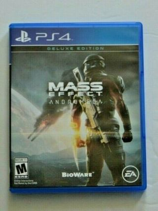 Mass Effect Andromeda PS4 Deluxe Edition Playstation 4 PreOwned