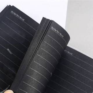 Fashion Black Paper Diary Book Sketch Notebook Thickened Plastic Cover Notepad