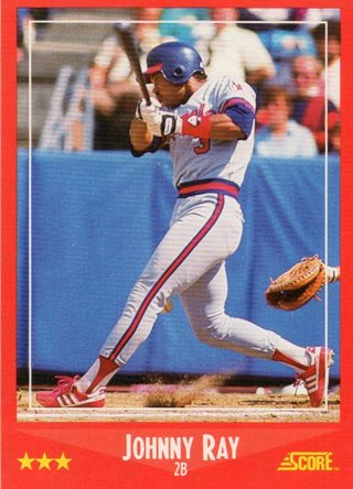 Free 1988 Score Baseball Card California Angels Johnny Ray Sports