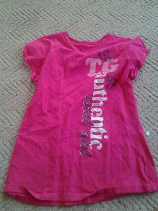 Total girl pink shirt size 18 girls will fit a womens small or teen