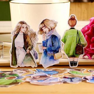 15pcs Creative cute kawaii self-made fashion girl daily  scrapbooking stickers /decorative sticker
