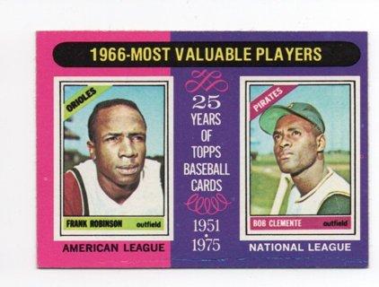 1975 Topps MVP Roberto Clemente Robinson #204