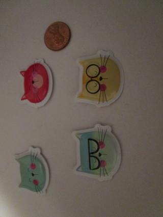 1st (4) cute cat magnets
