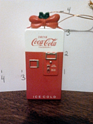 Coca Cola Christmas ornament...coke machine **free shipping**