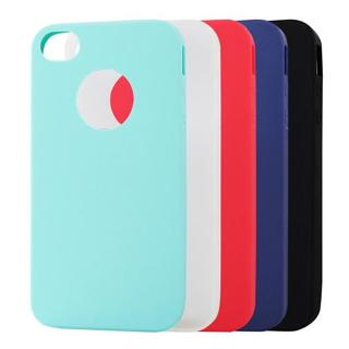Jderv Cute Candy Colors Case For iPhone 4S 4 Soft Silicone Cover Couqe Phone Fundas Back Bag Case