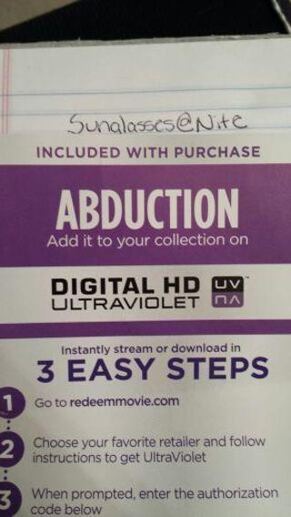 Abduction UV HD Code ( Vudu )