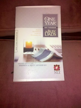 NLT One Year New Testament for Busy Dads Bible Book