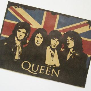 Queen British Rock Band Poster Vintage Poster
